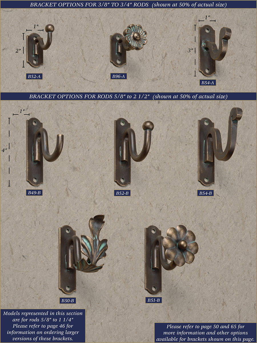 Wrought iron drapery rods - Wrought Iron Brackets Wrought Iron Drapery Brackets