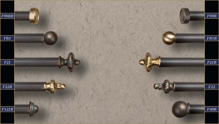 Curtain Rods Finials - Curtains Design Gallery