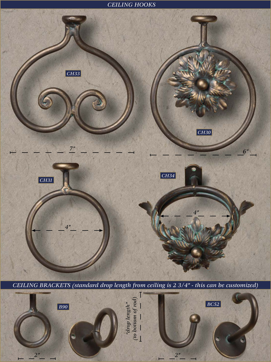 Wholesale Wrought Iron Curtain Rods Drapery Brackets Accessories Gaby S Shoppe