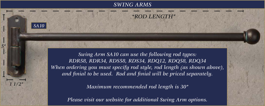 Wrought Iron Swing Arm