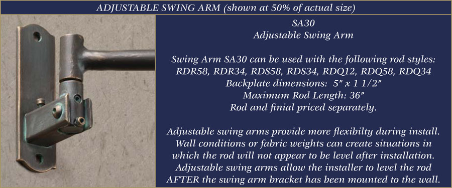 Fine Wrought Iron Swing Arm